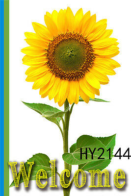 Welcome Sunflower Garden Flag Home Decor Double Sided House Lawn Yard Banner