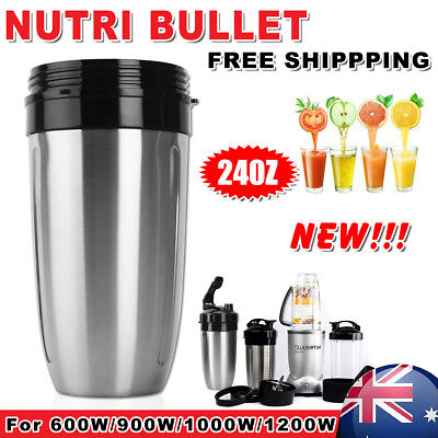 24oz Silver Stainless Steel Cup Replacement Parts For NutriBullet 900/1000/1200W