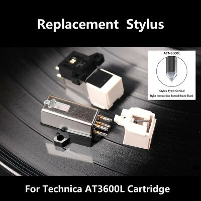 Replacement Turntable Stylus Needle Phono Mount For Technica AT-3600L Cartridge
