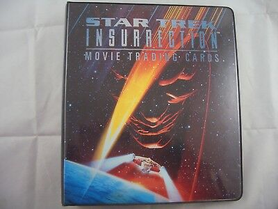 Star Trek Insurrection Movie Card Binder and Base set