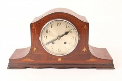 Mantel Clock Table Wooden Housing Percussion Vintage Art Nouveau Buffet Antique