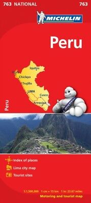 Peru NATIONAL Map (Michelin National Maps) (Map), Michelin, 97820...