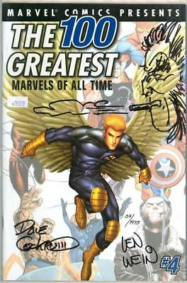 100 Greatest Marvels #4 Dynamic Forces Signed Wein Dave Cockrum Remarked Sketch