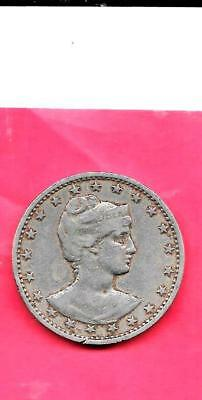 Brazil Km505 1901 Vf-Very Fine-Nice Old Vintage Antique Large 400 Reis Coin
