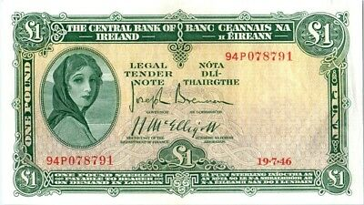 Irland 1 Pound Lady Lavery - River Mask - 19/07/1946