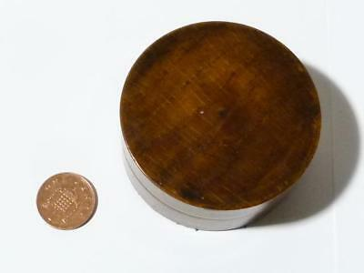 Antique Turned Wood Snuff Box little Note from the Maker Treen c1900, Victorian