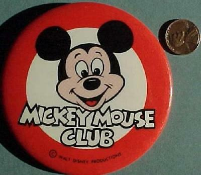 1960-70s Indianapolis,Indiana L.S.Ayres Mickey Mouse Club pin-Disneyland-Walt!