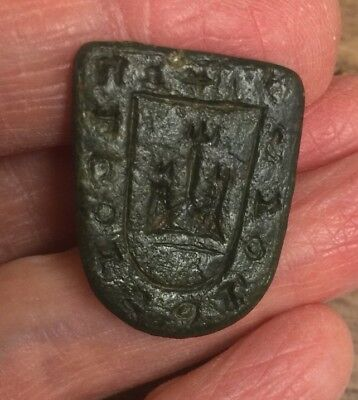 Medieval, 14Th Century. Bronze Seal Matrix -Die. Seal Design Of A Castle.