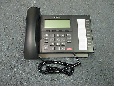 Toshiba Strata CIX DP 5022 SD Charcoal 10 Button Display Speaker Telephone  #A