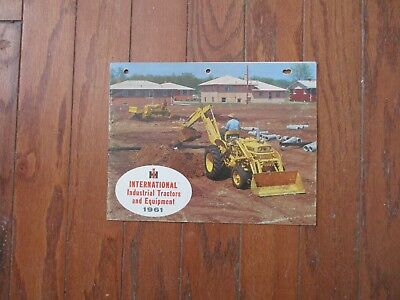 1961 INTERNATIONAL INDUSTRIAL TRACTORS and EQUIPMENT BUYERS GUIDE....GOOD+