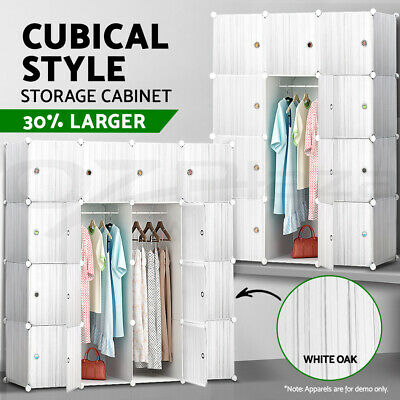 12 16 Cube Compartment Shoe Cabinet Rack DIY Storage Stackable Movable Portable