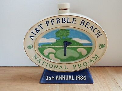 AT&T Pebble Beach National Pro-Am 1986, 1st Annual, Golf Decanter