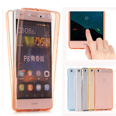For Huawei P8 P9 P10 Lite Plus Ultra Thin TPU Gel 360° Protection Case Cover