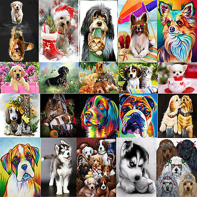 Dog Puppy 5D Diamond Painting DIY Embroidery Cross Stitch Mosaic Home Decor Gift