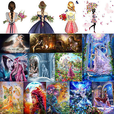 DIY 5D Beauty Fairy Diamond Painting Embroidery Cross Stitch Kit Decor Art Craft