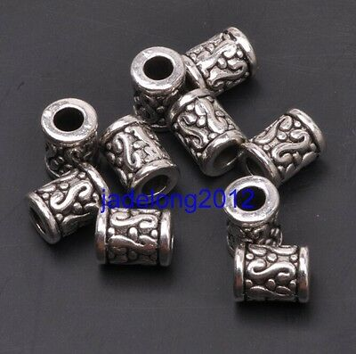 20pcs copper tone crafted flower spacer beads H1915