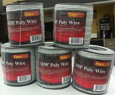 5 rolls polywire 6 strand SS 1650' electric fence White
