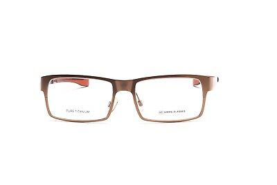 Pure Titanium, luxury matte golden eyelgasses made by GIMME GLASSES H22