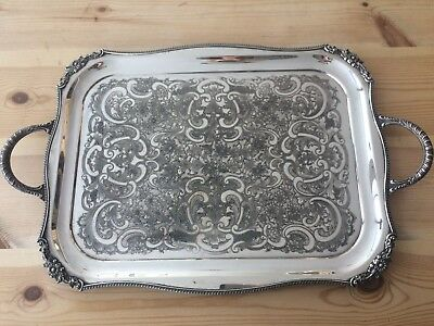 Antique Cutlers Company Silver Plated Tray Alpha Plate