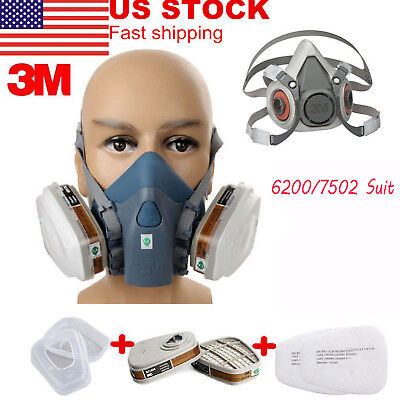 3M Dust Paint Mask Half Facepiece Respirator Assembly Respiratory Protection US