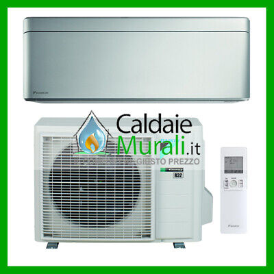 Climatizzatore Daikin Bluevolution Stylish Silver 9000 Btu A+++ R-32 Ftxa25As