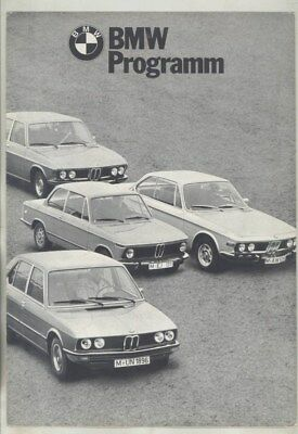 1972 BMW 2002 Turbo Cabriolet 2002tii 3.0CS 3.0CSI 3.0CSL Brochure German wz0340