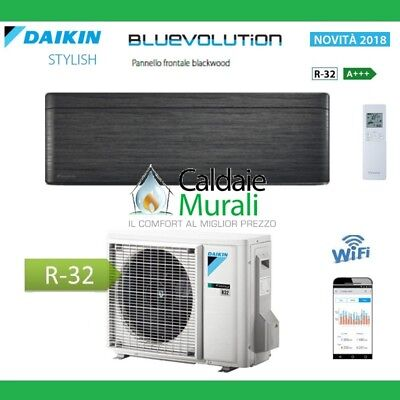 Condizionatore Daikin Bluevolution Stylish Blackwood 9000 Btu A+++ R-32 Ftxa25At