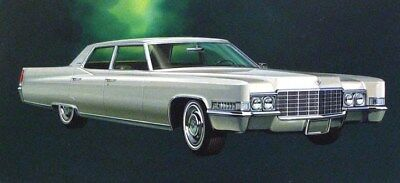 1969 Cadillac Automobile ORIGINAL Detroit Styling Art Painting md179