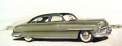 1950 Lincoln Automobile ORIGINAL Detroit Advertising Art Painting Rabowsky md291