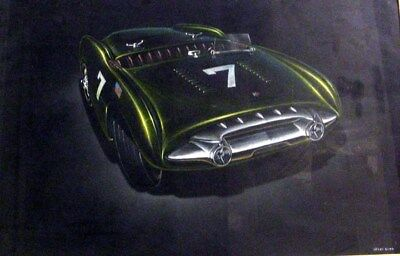 c 1952 Cadillac Lemans Roadster Automobile Styling Art Painting Henry Gurr md329