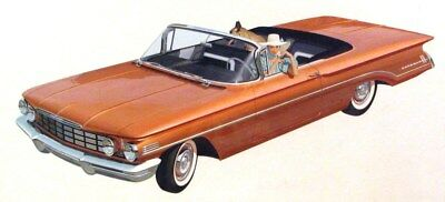 1960 Oldsmobile 88 Convertible Automobile Detroit Advertising Art Painting md336