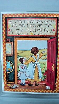"Mary Engelbreit Music Box ""You Light Up My Life""  Picture Frame Mother Daughter"