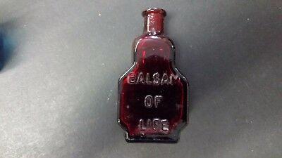 Wheaton Red Glass Bottle-The King's Patent Balsam of Life