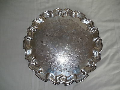 "L.B.S.co Lawrence B Smith Boston large 17"" silver tray #2503 superfine 1887-1958"