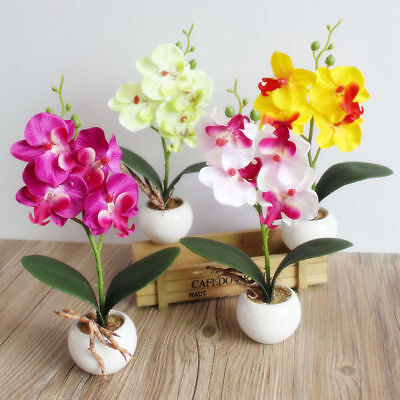 1pc Artificial Mini Fake Butterfly Orchid Flower House Garden Decoration