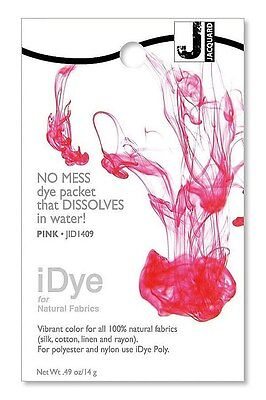 New Jacquard iDYE Fabric Dye - For NATURAL Fabrics- PINK - JID409