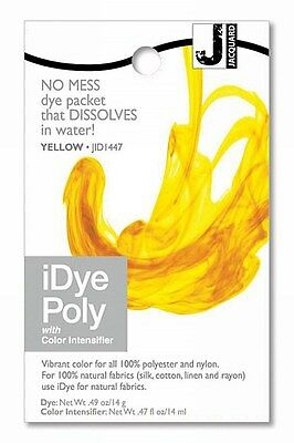 New Jacquard iDYE Poly Fabric Dye - For Polyester & Nylon - YELLOW - JID447