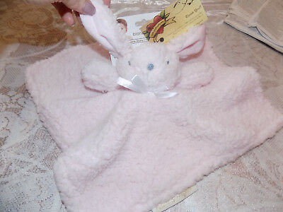 Security Blanket Beyond Bunny Rabbit Sherpa Pink Lining Eyes Nose Smile Soft