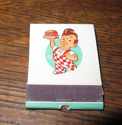 BIG BOY MATCH BOOK EMBOSSED FEATURE 1950's MINT WHITE FRONT STRIKE 10 LOCATIONS