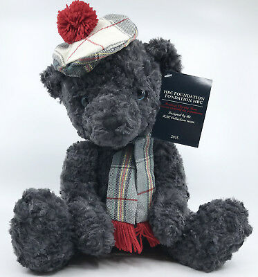 HBC Hudsons Bay Plush Teddy Bear 2015 Heritage Charity 11in NEW Tam Scarf Tags
