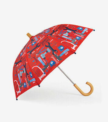 NEW Mr Fix It Tools Hammer Saw Kids Boys Rain Wear Umbrella By Hatley