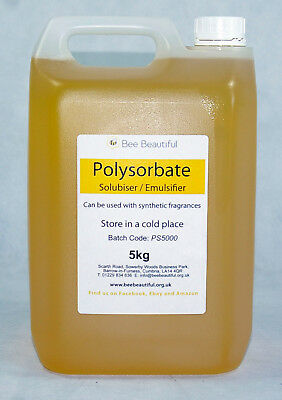 Polysorbate 20 - Solubiser / Emulsifier, dissolving oils in water - rooms sprays