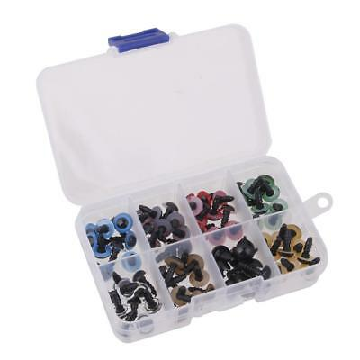 80 Pieces 8mm Mix Color Safety Eyes For Teddy Bear Doll Making with Case