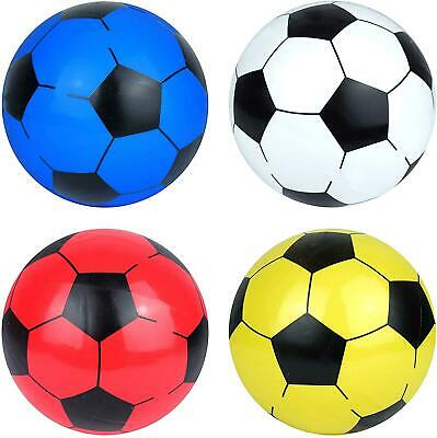 """10"""" Plastic Inflatable Football Sports Training Beach Ball Toys Game Party Bag"""