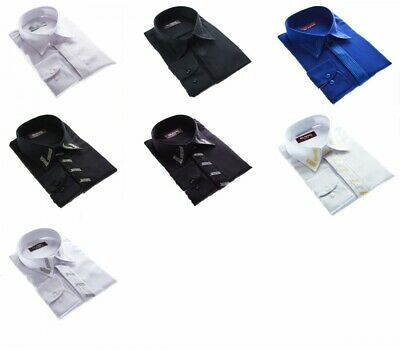 Designer Wedding Men's Shirt + Embroidery Iron Free K7F K2