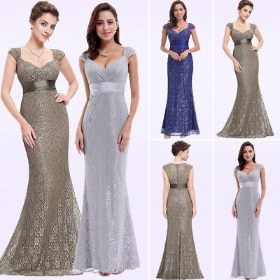 Ever-Pretty Evening Dresses Long Mermaid V-Neck Cocktail Party Prom Gown 08798