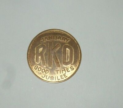 Rare Token Good Luck Token RKO Movies Token For Good Luck Good Times Very Old