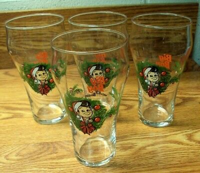 Vtg LIBBEY Lot/4 Soda Fountain Glasses ~ BIG BOY Restaurant & Bakery ~ 6 & 1/8""