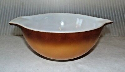 Vintage Pyrex Brown Old Orchard Cinderella 1.5 Qt. #442 Nesting Mixing Bowl