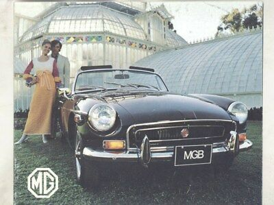 1972 MG US MGB Brochure wz0872